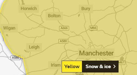 Drivers urged to be cautious as yellow warning of snow and ice issued