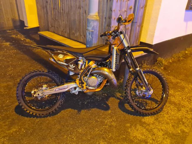 An off-road bike seized by police officers in Bury