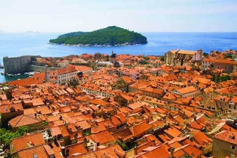 Beautiful Dubrovnik, in Croatia. You could be there instead of reading this.