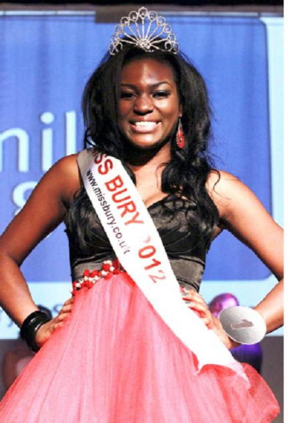 Law hopeful is judged to be Miss Bury 2012