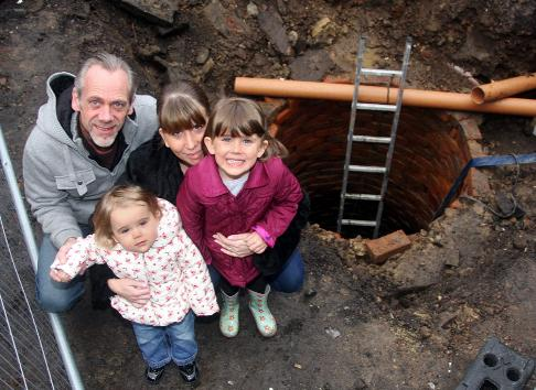 Victorian well is family's surprise garden feature!