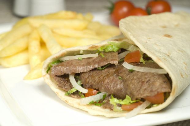 A kebab. A man has been fined for dropping one on the ground in Unsworth.