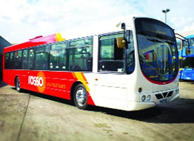 Bury Times: A Rosso bus