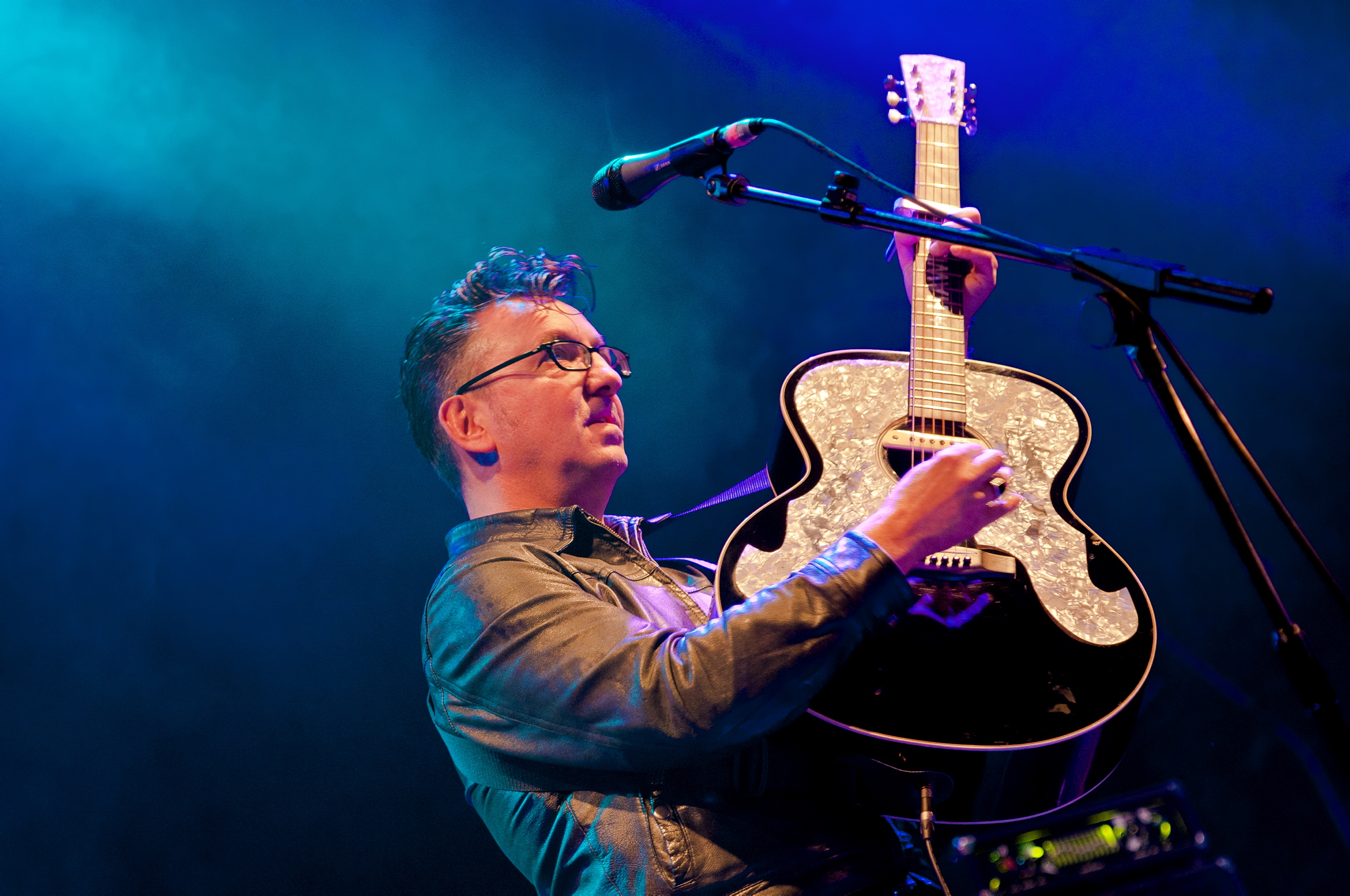 Richard Hawley on stage at the Ramsbottom Festival