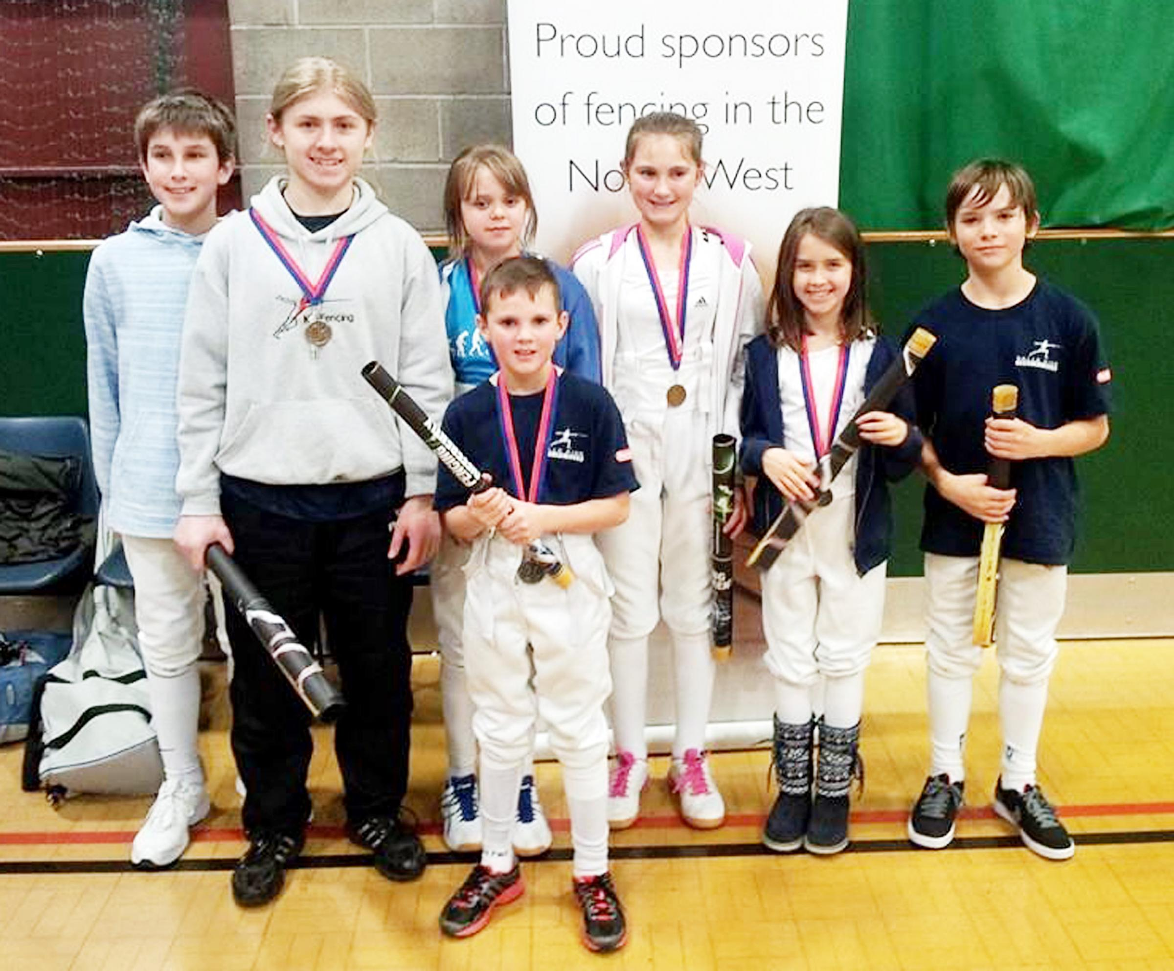 Awards and medals for dynamic fencing stars