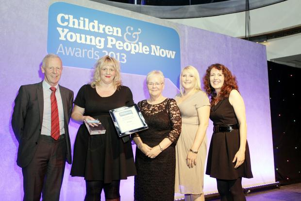 From left, Chris Hanvey, chief executive of the Royal College of Paediatrics and Child Health, Vicky Maloney, chief executive of Early Break, Diana Ashworth, Early Break chairman of trustees, Katy Cleece, Early Break Holding Families project co-ordinator