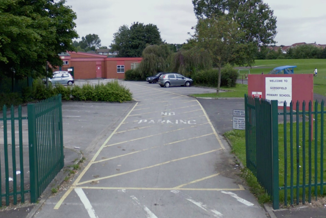 Gorsefield Primary School in Radcliffe. Picture from Google Maps.