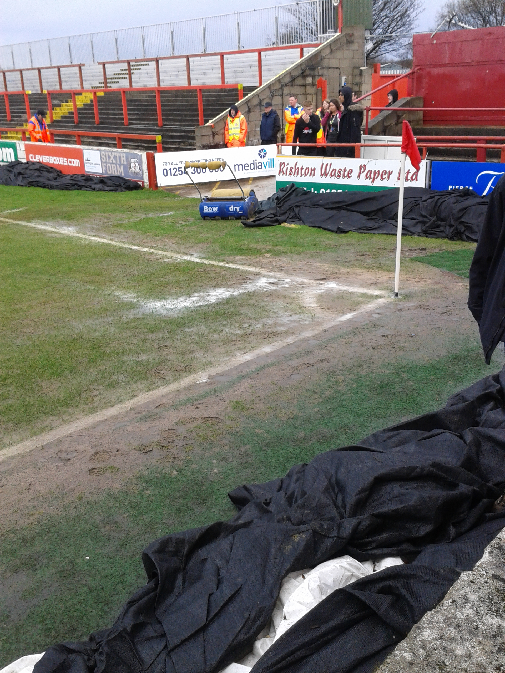 Managers David Flitcroft and James Beattie support late decision to call off today's Accrington Stanley v Bury match