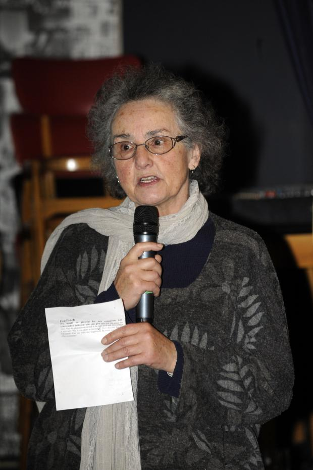 Bury Times: Brigitte Lechner who spoke at the anti-fracking meeting