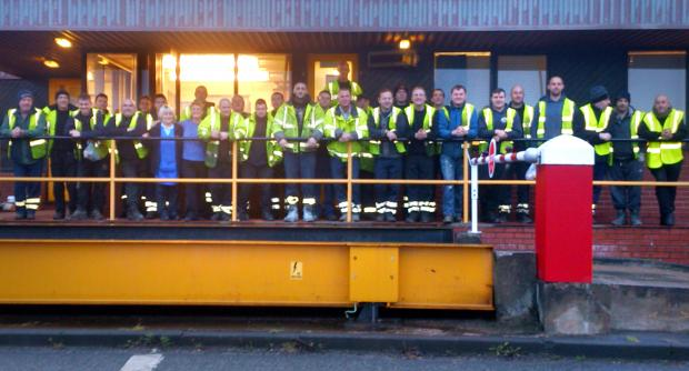 Bury Times: The workforce on one of their last shifts at the Fernhill depot