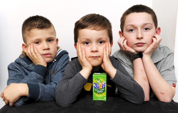 A DAY out at a play centre turned sour for these three disappointed youngsters, from left, Sam Crutchley, aged seven, Luke Marsh, aged five, and Josh Taylor, aged 10.