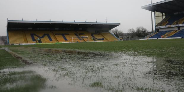 Mansfield Town's pitch at the club's One Call Stadium earlier today. Picture supplied by Mansfield Town.
