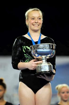 CHAMPION Nicole with her national trophy
