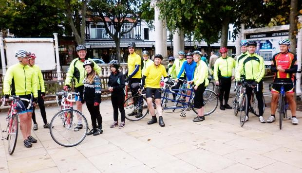 Bury Times: FGFGFGFG Bury Tandem Club members after last year's sponsored ride to Southport