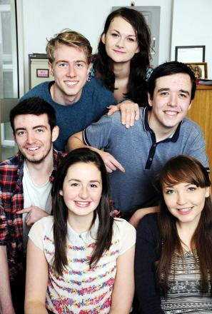Back row, from left, Ben Stott and Naomi Weston, both aged 18. Middle row, Kieran Vail, aged 17, and David Peters, aged 18. Front row, Hannah Fitton, aged 17, and Stephanie McGuire, aged 17