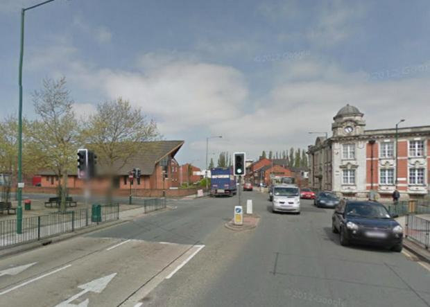 The junction in Radcliffe. Picture from Google Maps.