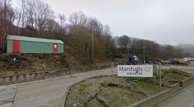 Marshalls, Ramsbottom, where to workers were crushed by a heavy metal gate as they tried to secure it in high winds. Picture from Google Maps.