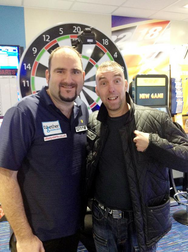 Bury Times: CHALLENGE Scott Waites (left) with Dave Turrell