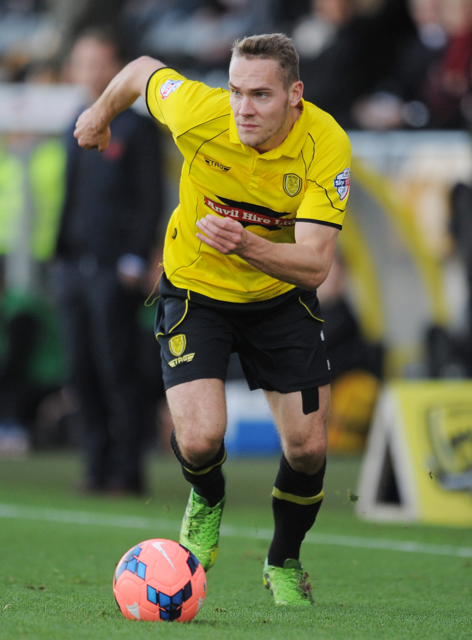 Chris Hussey playing for Burton Albion