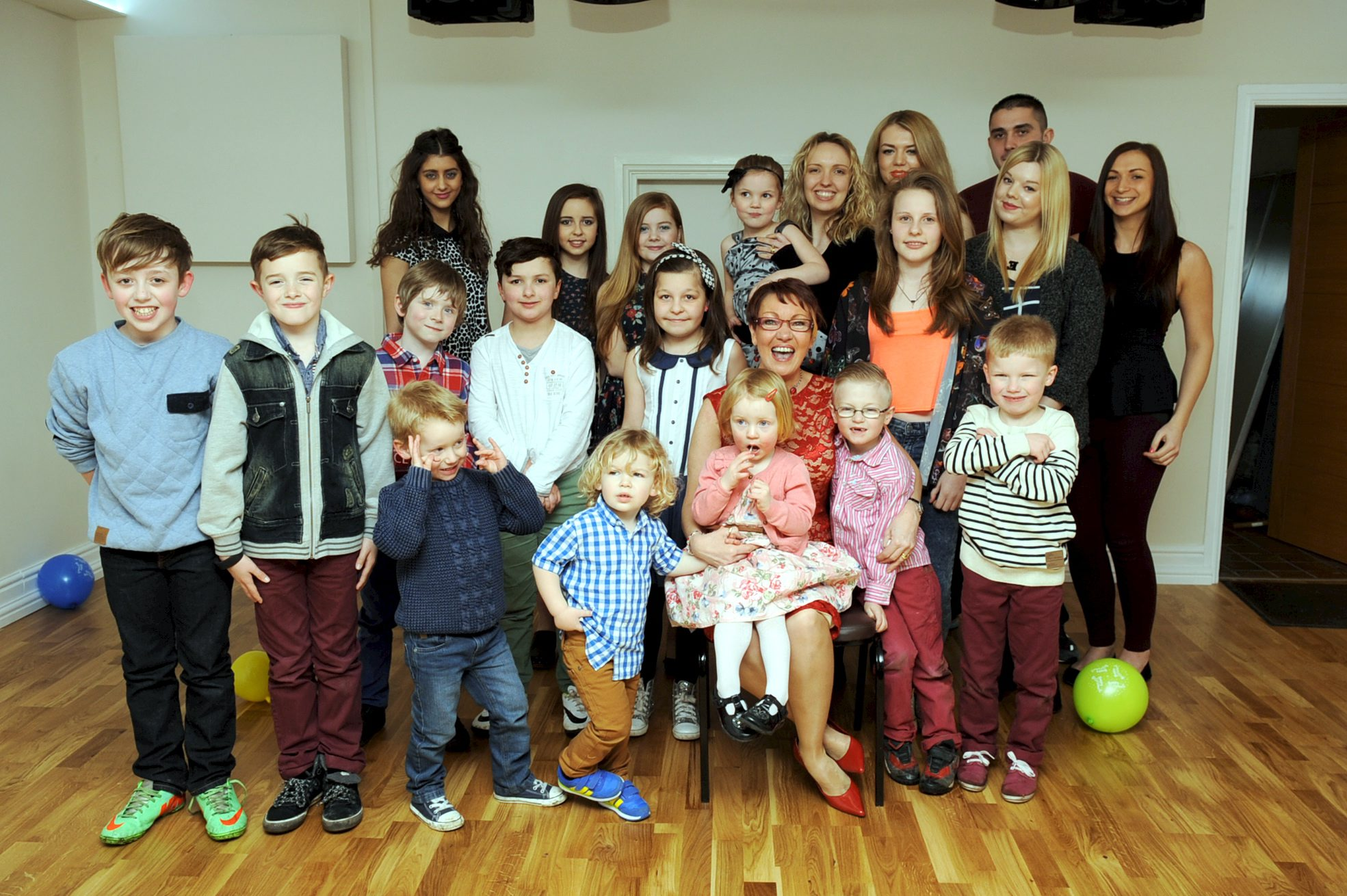 Lynn Shepherdson is pictured with some of those she has looked after over the years