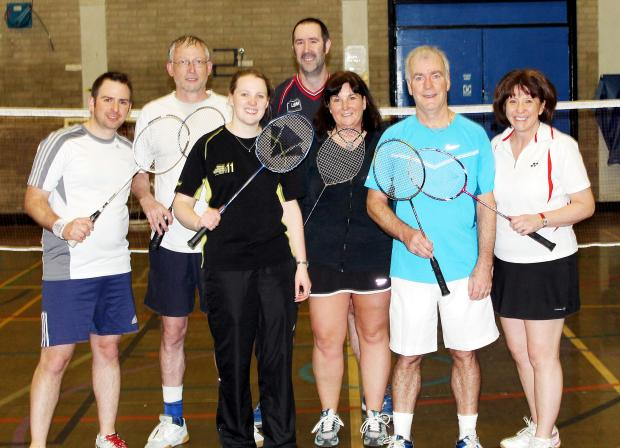 Members of Edenfield Badminton Club's victorious A team
