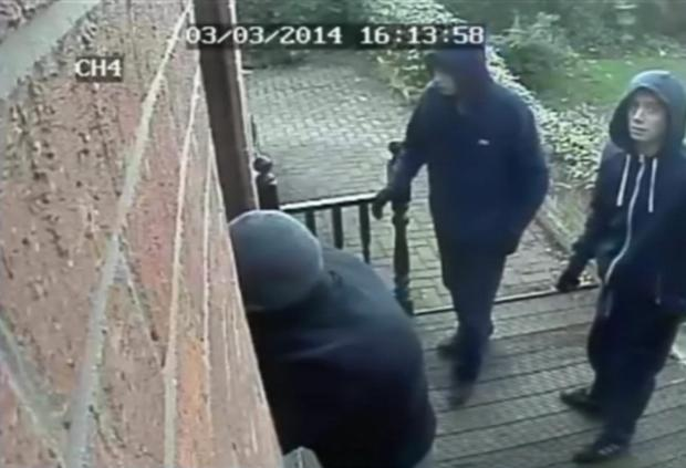 The burglars caught on CCTV.