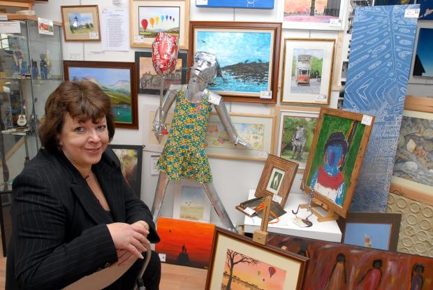 Fibromyalgia sufferer Karen Jones, who owned The Attic Art Gallery in Back Rochdale Road, Bury, in the gallery in 2007 before the onset of her illness