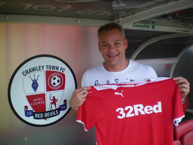 Brian Jensen is unveiled at Crawley Town