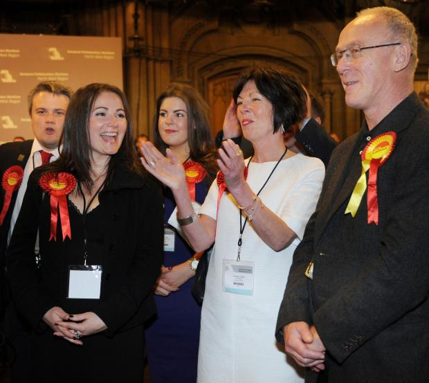 Celebrations at the count