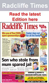 Bury Times: Radcliffe Times frontpage