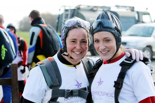 Skydive sisters Laura Gardner, left, and Nina Levy