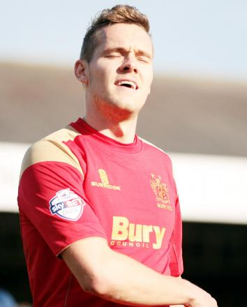 RETURN Chris Hussey played 11 times for Bury on loan last season