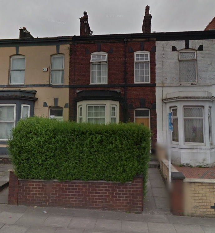 The house in Walmersley Road. Picture from Google Maps.