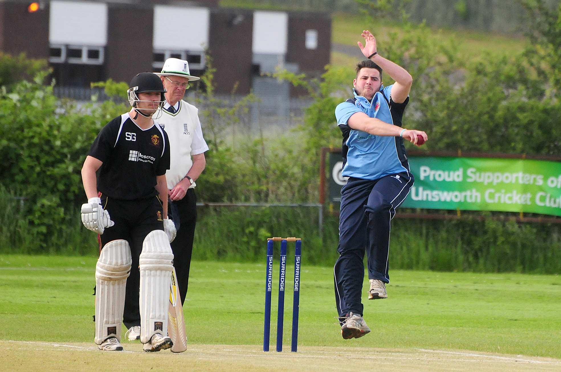 IN ACTION Unsworth bowler Jack O'Brien
