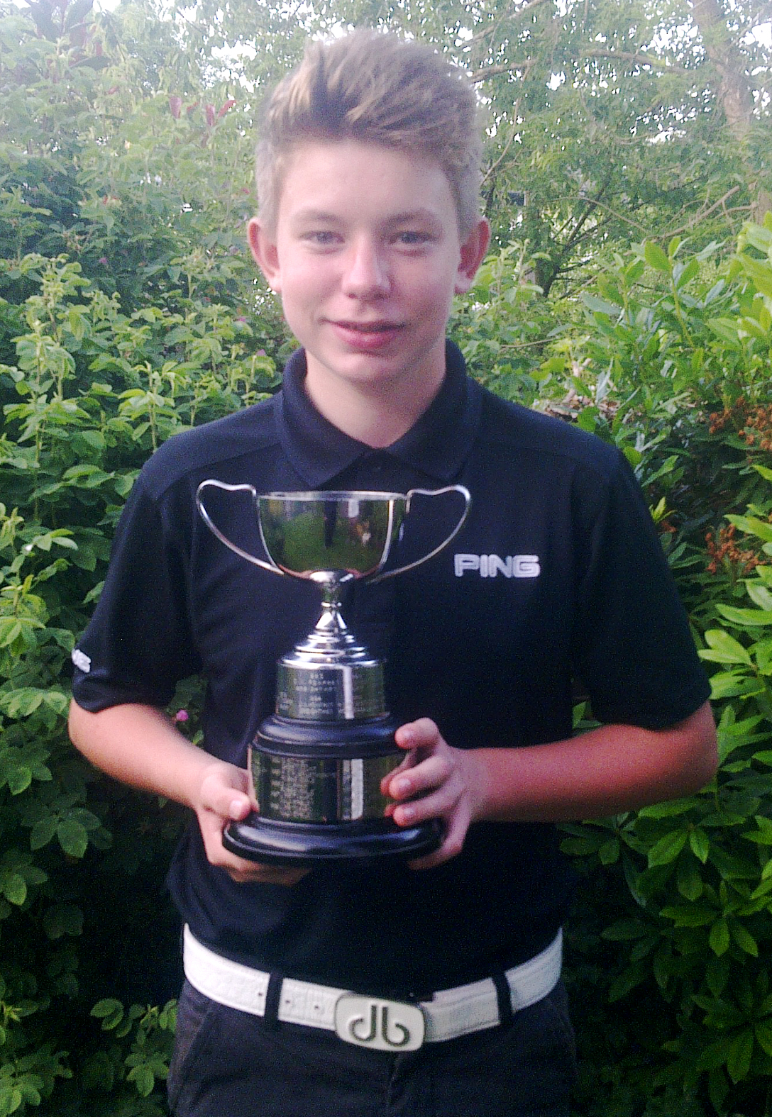 CHAMPION Luke Bartram with the junior cup
