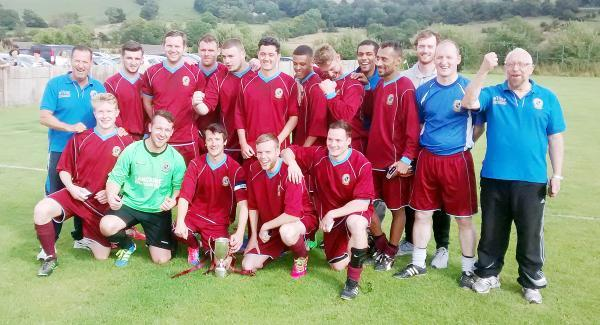 WINNERS Elton Vale celebrate Terry Wood Cup success