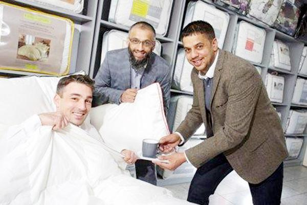 From left, NatWest relationship manager Fadi Fattahi with Qasim Ali and Murtaza Ali, both of Raymat Quilts