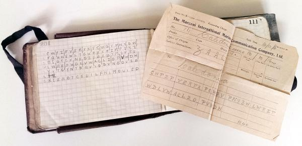 Lt Col Woodcock's code and pocket book