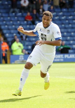 JOY BOY Tom Soares celebrates putting Bury ahead against Plymouth