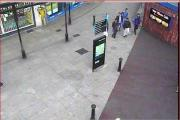 A CCTV image of the men police are searching for