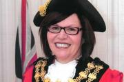 The Mayor of Bury, Cllr Michelle Wiseman, wearing her ceremonial chains