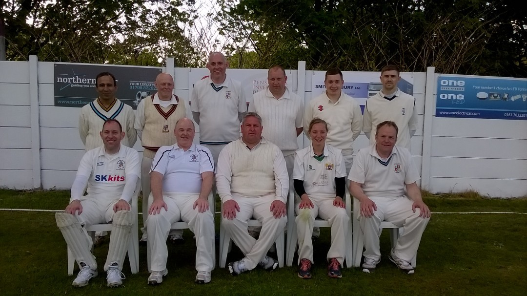 Pictured back, from left, are Asif Iqbal, Neil Butterworth, Russell Brooks, Nick Marsh, Rick Carr, Ian Crabtree; front Clive Brooks, Paul Meehan, Simon Marsh (captain), Meg Phillips and Kieran Coe.