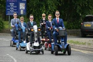 Teens' mobility scooter prom stunt becomes internet sensation
