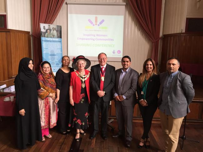 Pictured at the event (left to right) are: Ayesha Arif, director of the Bury Asian Women's Centre; Councillor Shaheena Haroon; Rehana Mohammed, learning manager for Workers' Educational Association Greater Manchester; Cllr Stella Smith, the Mayor of Bury;
