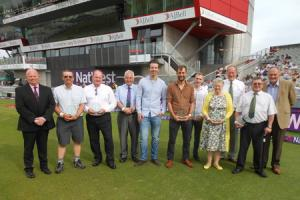 CRICKET: Elkin and Kay enjoy the red carpet treatment on OSCAs night