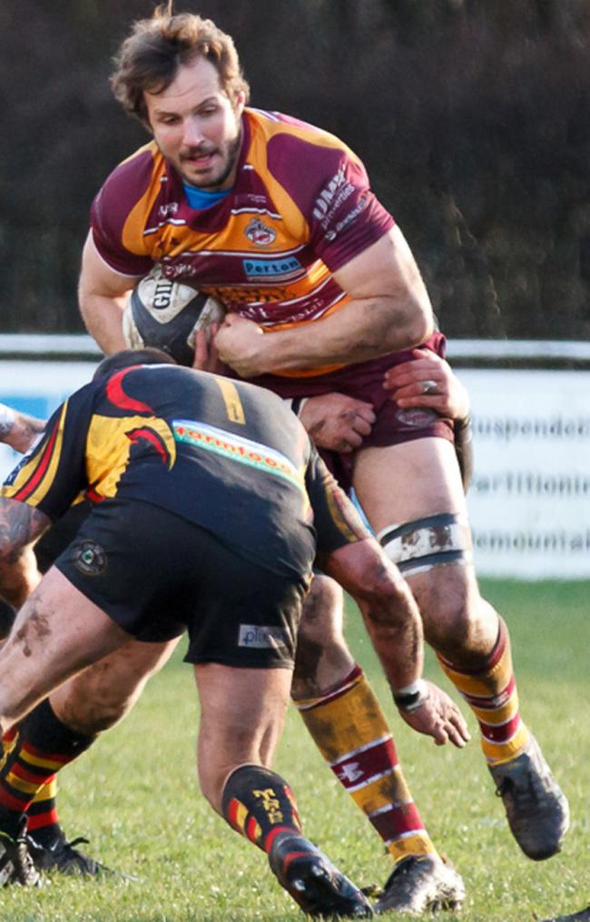 Juan Crous went off injured during Saturday's win over Otley