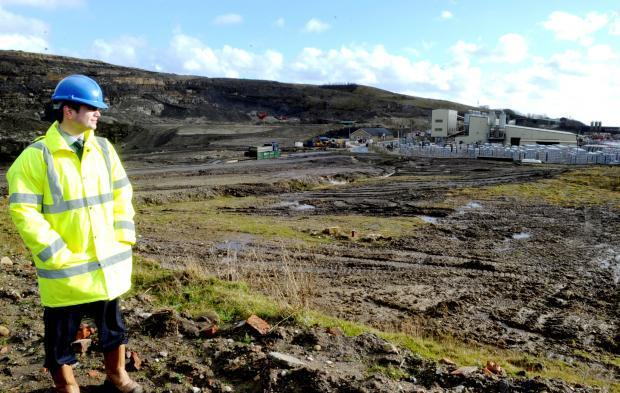 Kieran Tames of Peel Environmental next to the proposed site of the anaerobic digestion plant