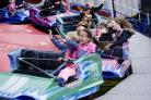 Florence Rafter, aged 9, and her friend Millie Dejager, aged 8, having fun at last year's Prestwich Carnival