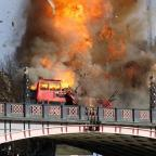 Bury Times: Londoners aren't too happy about the bus explosion staged for a Jackie Chan film