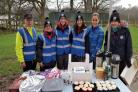 Event volunteers at Burrs Country Park celebrating a successful year of Great Run Local in Bury